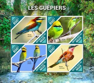 Z08 IMPERF NIG190417a NIGER 2019 Bee-eaters MNH ** Postfrisch