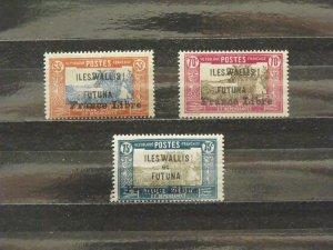 6371   Wallis Futuna   MH # 111, 112, 113                 CV$ 12.50