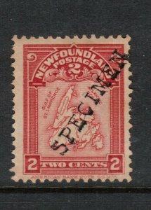 Newfoundland #86 (SG #94) Mint With Specimen Overprint In Black Unused (No Gum)