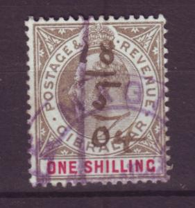 J19560 Jlstamps 1903 gibraltar used #44 king