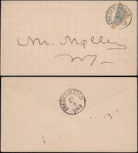 1903 Danish West Indies Four Cent Diagonal Half Used as 2 Cent on Cover ( Pos...