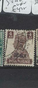 INDIA  PATIALA  (PP0704B)  KGVI  4A  SG 112  VFU