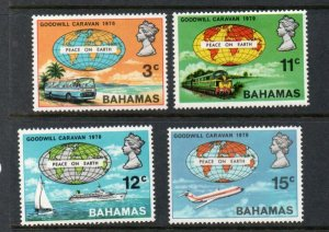 Bahamas Sc 303-6 1970 Goodwill Caravan mint NH