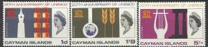 Cayman Islands 186-8  MNH  UN UNESCO 20th Anniversary