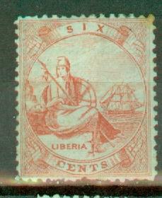Liberia 1 unused no gum CV $400