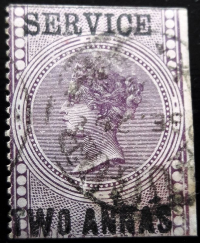 INDIA 1865 QV FOREIGN BILL SURCHARGED & OVERPRINTED. SGO15, VERY FINE