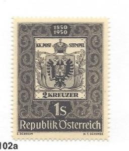 Austria, 572, Austrian Postage Stamp - 100th Single, **MNH** (LL2018)