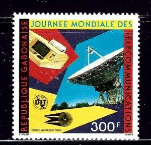 Gabon C277 MNH 1986 World Telecommunications Day    (ap2033)
