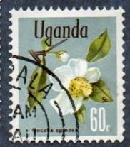 Uganda Scott #122 60c Flowers, Oncoba spinosa (1969) CTO NH