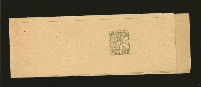 Monaco Prince Albert I 1890's Newspaper Wrapper Unused