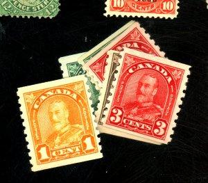 Canada #178-183 MINT FVF OG LH 183 Thin Cat$85