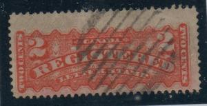 Canada Sc  F1b 1875 2 c rose carmine registration stamp used