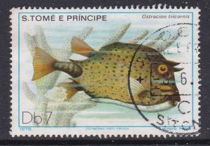 St. Thomas and Prince Islands #551 F-VF Used Fish