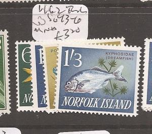 Norfolk Island 1962 Fish SG 43-6 MNH (4dbb)