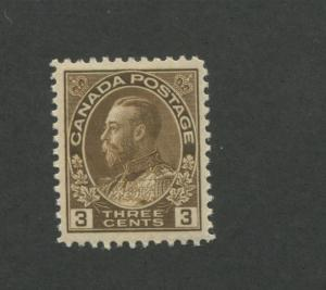 Canada 1918 King George V Admiral Issue Very Fine 3c Stamp #108 CV $40