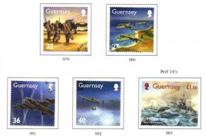 Guernsey Sc 790-4 2003 WWII Dambusters stamp set used