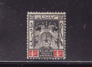 Malaya Kelantan-Sc #3-unused,hinged-4c black & red-1911-15-b