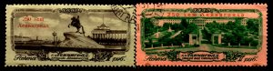 Russia Scott 1944 - 1945 w/ creases and foxing