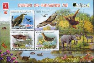 Korea 2010. International Stamp Exhibition BIRDPEX 6 (MNH OG) Souvenir Sheet