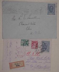 CZECHOSLOVAKIA  #61A cat.$19.00 for stamp off cover, COVER WORTH MORE 1921