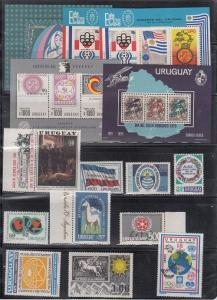 Uruguay Scott C313 // C435 Mint NH sets (Catalog Value $84.20)