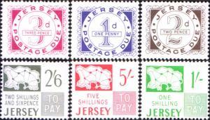 Jersey Scott J1-J6 Mint never hinged.