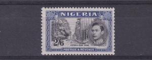 NIGERIA  1938 - 51  S G 58  2/6  BLACK & BLUE    M /   H