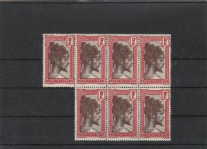 madagascar mint never hinged stamps block ref r11340