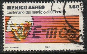 MEXICO C592 Centenary birth of Albert Einstein. Used. F-VF. (1194)