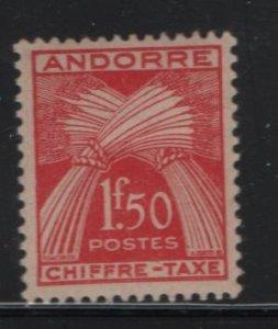 ANDORRA, J25, HINGED, 1943-46, WHEAT SHEAVES
