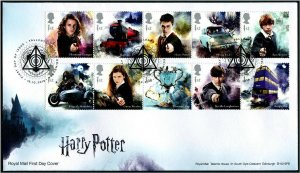 HERRICKSTAMP GREAT BRITAIN Sc.# 3780-89 Harry Potter FDC - Edinburgh Cancel