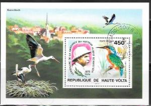 Haute-Volta  Upper Volta  Commemorative Sheet C215. Albert Schweitzer