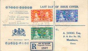Kenya Uganda & Tanganyika Scott 60-62 Printed address.