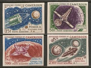 Cameroun #C84-87 VF MNH Imperforated - 1967 Space & Moon