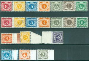 IRELAND : 1940-78. Scott #J15-21, 25-27, 10, 12, 20. Mint NH & Used sets.