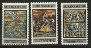 Suriname Scott 359-361 MNH** 1966 synagogue set