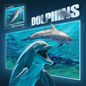 Z08 IMPERF SRL17909b Sierra Leone 2017 Dolphins MNH ** Postfrisch