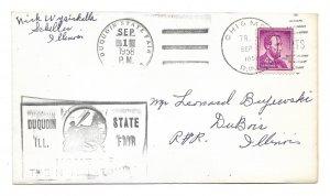 Duquoin State Fair 1958, Scheller to Du Bois, Illinois, Chicago & Memphis RPO