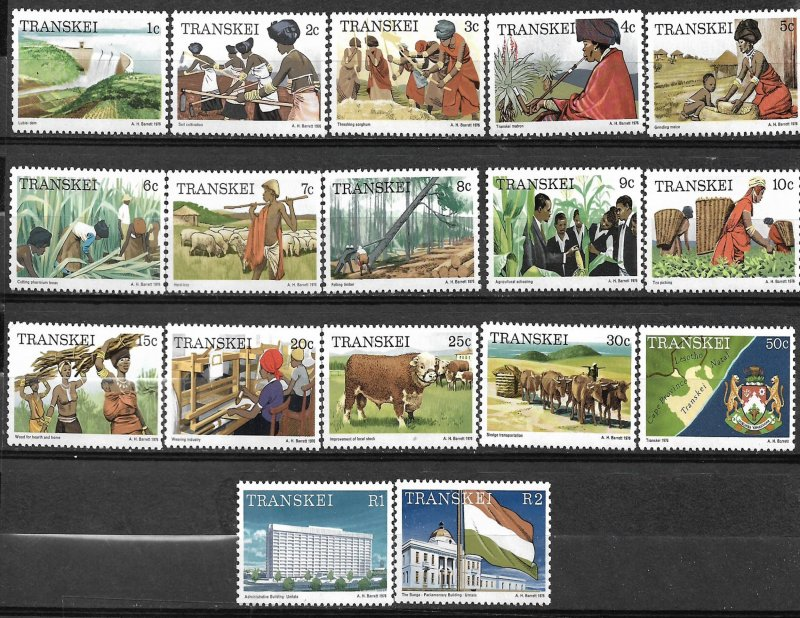 COLLECTION LOT OF # 814 TRANSKEI # 5-21 1976 MH