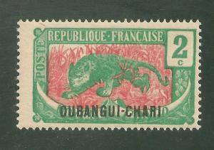 Ubangi-Shari #24 FVF MINT - 1922 2c Leopard