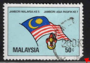 Malaysia Scott 235 Used Scout Flag stamp