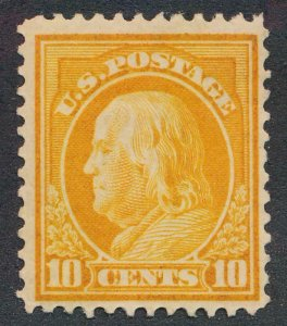 UNITED STATES 416 MINT HINGED FINE10c FRANKLIN