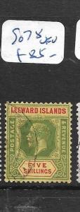 LEEWARD ISLANDS  (PP1406B)  KGV 5/-  SG 78   VFU
