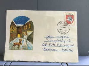 Lithuania 1993 to Denmark   stamps cover R29374