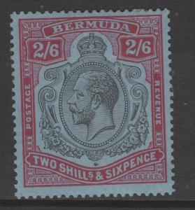 BERMUDA SG89b 1927 2/6 BROKEN CROWN & SCROLL VARIETY MTD MINT