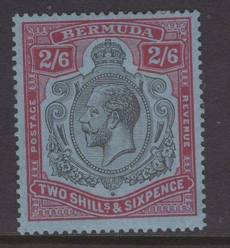 BERMUDA SG89b 1927 2/6 BROKEN CROWN & SCROLL VARIETY MTD MINT