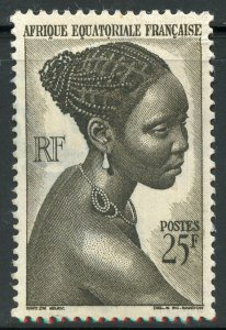 French Equatorial Africa Scott 184 Unused VFVLH - High Value of Set - SCV $2.75