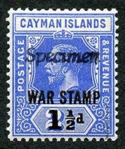 Cayman Is SG56s 1 1/2d on 2 1/2d unrecorded italic Specimen overprint (not guar