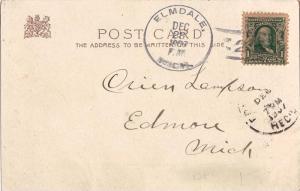 United States Michigan Elmdale 1907 doane 3/2  1889-1939  PC.
