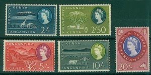 KUT 1960 QEII HV pictorials to include 2/-, 2/50, 5/-, 10/- and 20/- Mint Stamps